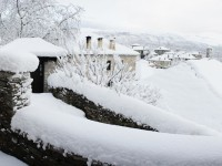 Winter has arrived, time for the fireplace in Zagori, Greece