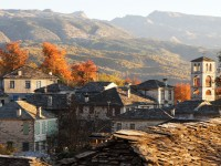 The autumn colours all over the mountains around the traditional stone villages of Epirus