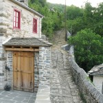 Traditional cobbled path in Zagori