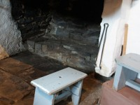 The fireplace of a traditional house in the mountains of Epirus