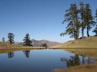 The Flega Lakes at 1.700m altitude in Valia Calda region