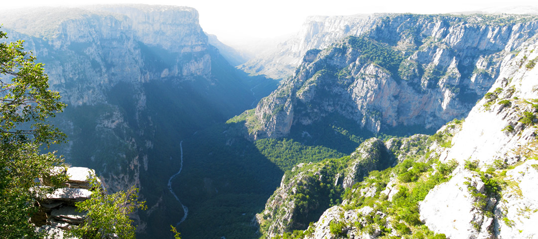 Vikos gorge from Beloi post close to the village of Vradeto in Zagori