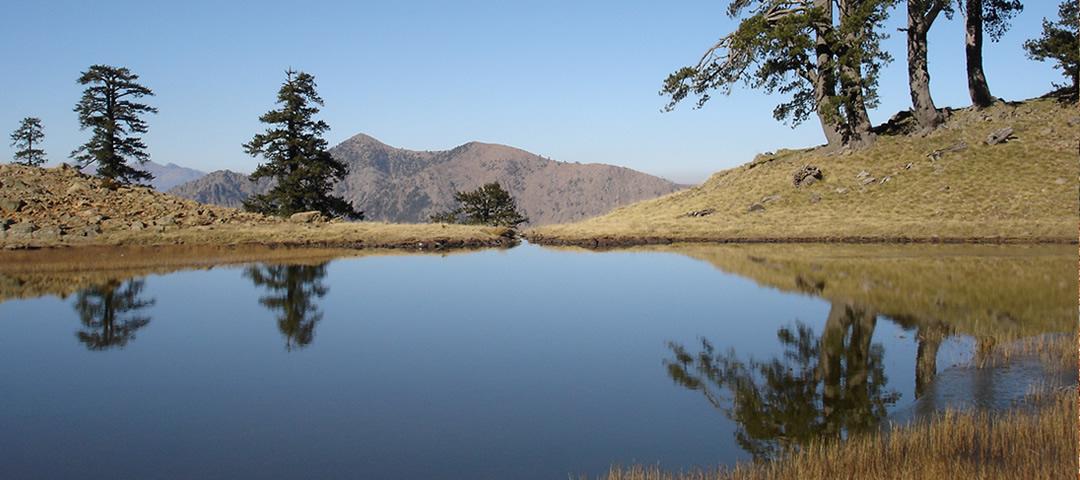 Flega lakes in Valia Calda, Pindus