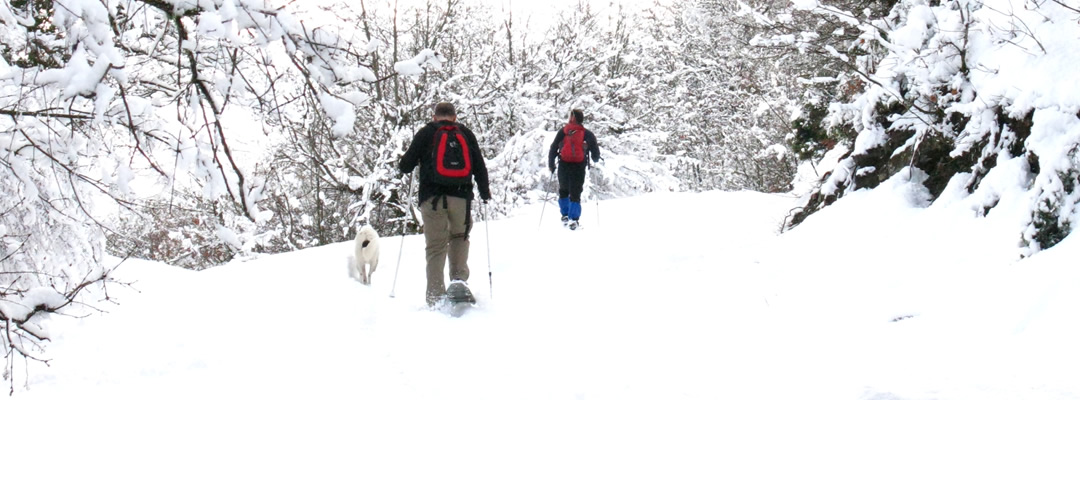 Snowshoeing in Pindus mountains in North Western Greece