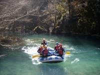 Rafting in Voidomatis river in the National Park of Vikos-Aoos in Greece