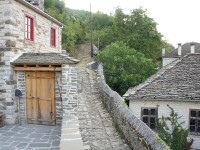 A traditional stone path-trek in a village in the National Park of Vikos Aoos