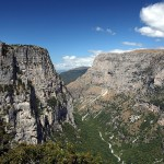 The view to Vikos Gorge from Oxia. A location close to Bitsa and Monodendri villages in Central Zagori