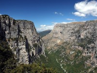 Vikos gorge as seen from the location Oxya in the Zagori area of Northern Greece