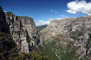 Vikos gorge from Oxya view point in the National Park of Vikos-Aoos