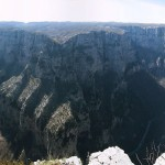 Vikos Gorge in Vikos-Aoos National Park in Greece