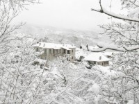 White scenery in winter 2012 in Zagorochoria, Greece