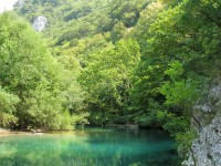 Voidomatis river during summer, Aoos, Greece