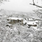 Snow, snow, snow in winter 2012 in the mountains close to Ioannina city