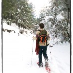 Snowshoeing in the forest one winter morning, a unique experience for all ages