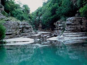 Ovires (small natural pools) nearby Mikro Papigo in the Zagori region, Greece