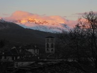 Sun sets on Mt. Tymphe in the National Park of Vikos Aoos in Northern Greece