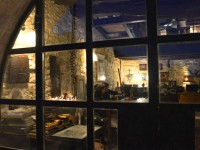 The main entrance of Anemi Jazz Bar in Zagorochoria, Greece