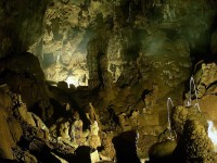 Caving in the National park of Pindus in Epirus, Greece