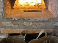 Lighting up the traditional Greek wood oven
