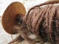 The Greek traditional way of spinning the yarn   Zagori, Greece