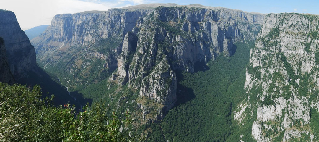 View of Vikos Gorge from Oxia view point