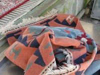 Kilims almost dry, ready to be hanged on racks