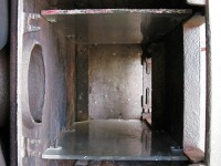 Shaping the moulds for the heat insulation of the stove