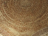 The brick dome of a centuries old monastery in Agion Oros (Mt. Athos) in Greece