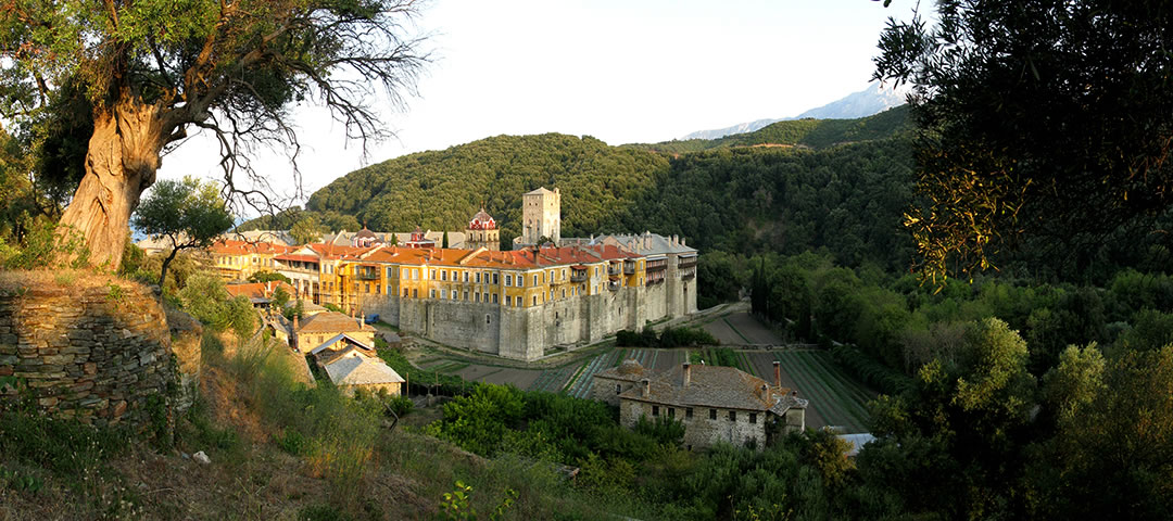 Holy Monastery of Iviron or Iveron, an Eastern Orthodox monastery at the monastic state of Mount Athos in Greece
