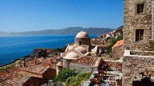 Off limits to cars, the old town of Monemvasia, in the southern Peloponnese, is one of Greece's best-preserved Byzantine citadels