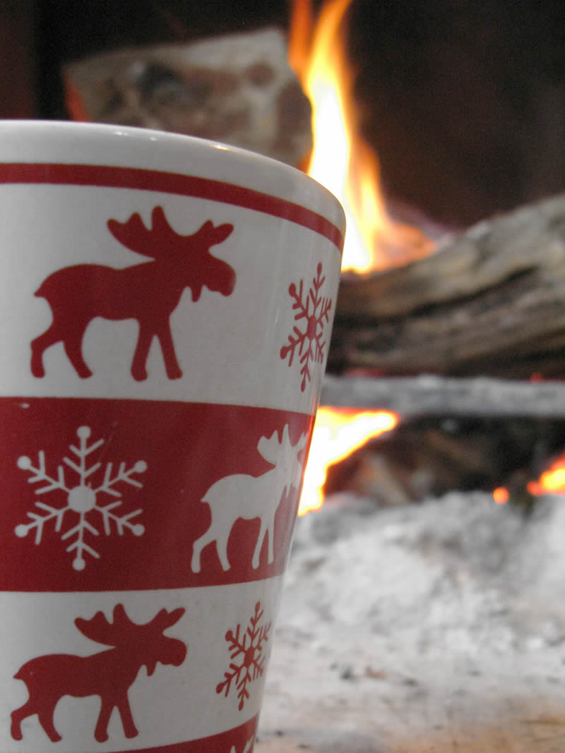 Time for a warm cup of coffee by the fireplace. The place is Anemi Guesthouse-Agrotourism in the Zagorohoria region