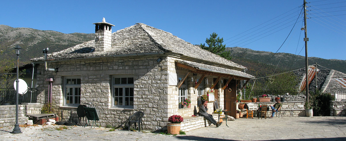 Spring is on its way to the village of Kato Pedina or Soudena and the cafe-taverna in the village square
