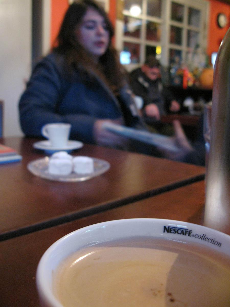 Time for some coffee at Mesochori in Kato Pedina