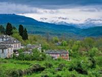 Dilopho village in spring time