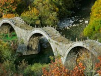 "The stone arched bridge of ""Plakidas"" between Kipi and Kooukouli villages"