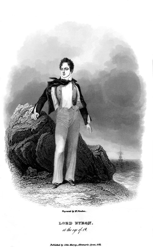 Lord Byron made his first trip to Greece in 1809 when he was 21 years-old. He first set foot in Patras on the 26th of September 1809 and subsequently traveled by ship to Preveza. From there he continued to Yiannena and Zitsa which was praised for its beauties