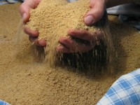 from 5kg of whole wheat & about 4kg of unpasteurized sheep's milk we got 5,5g of trahana | making trahana in zagori