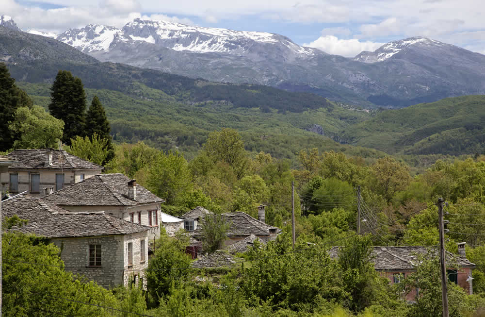 dilofo village in zagori greece