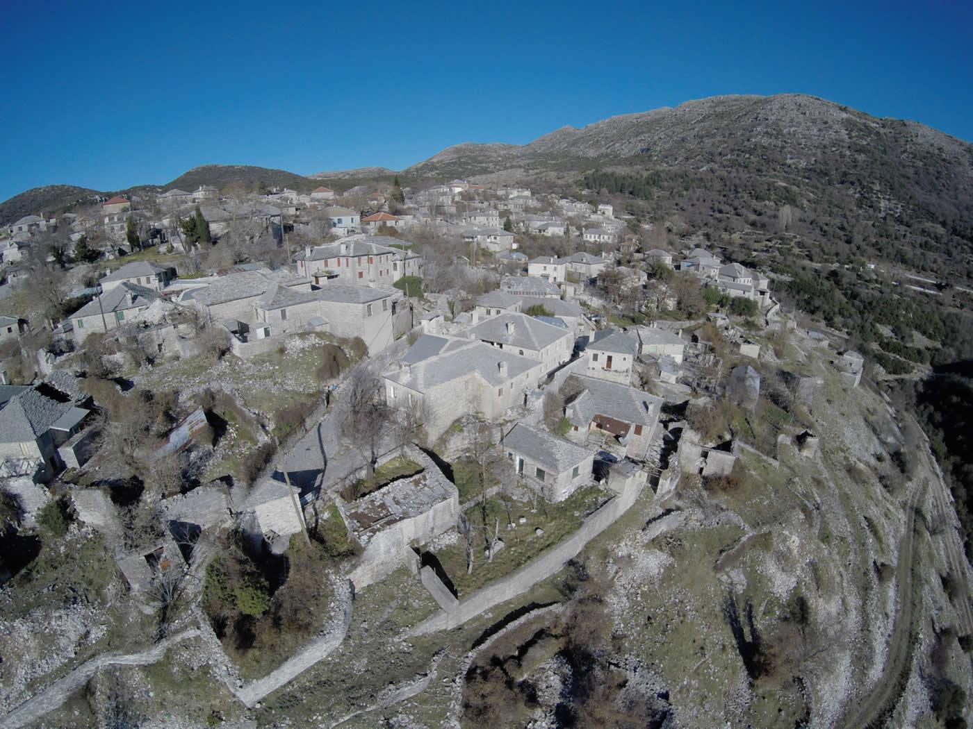 Aerial photographs of Elafotopos village