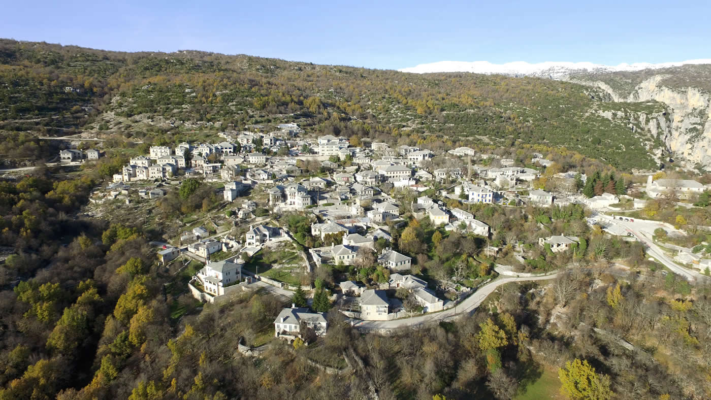 Monodendri village in the Zagori region next to Vikos gorge