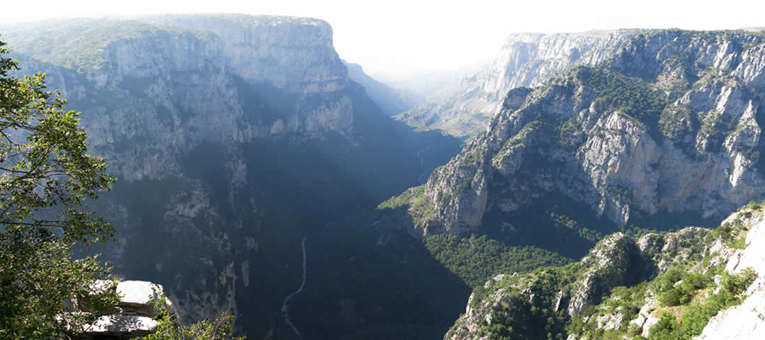 Crossing Vikos gorge on a sunny spring day!
