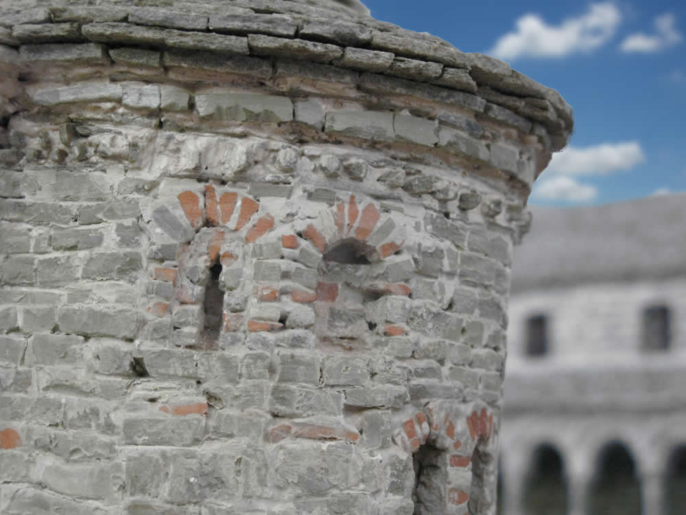 Stone made scale model by A. Tefos of a church in the area of Konitsa