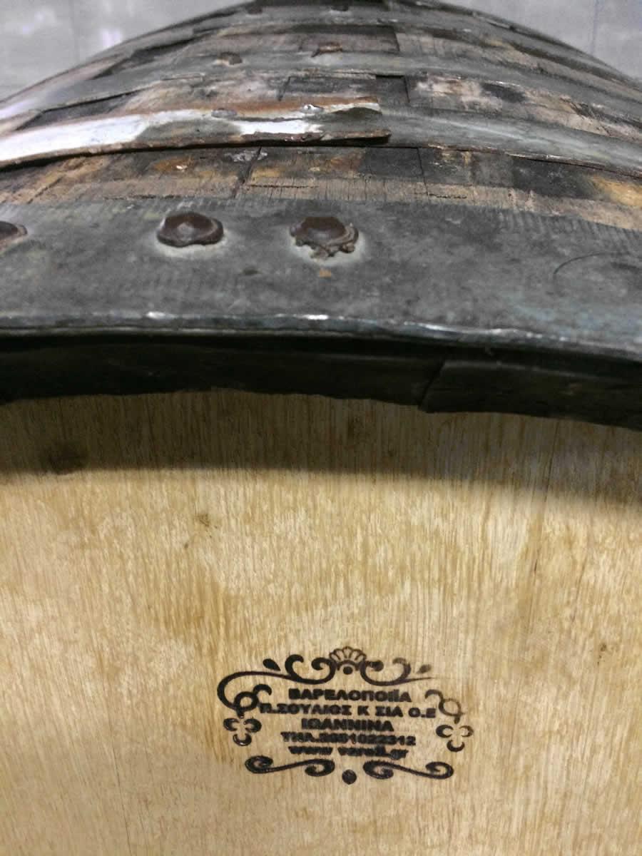 Locally made oak barrels, Basiles Ketas Biological Wine, Zitsa, Ioannina