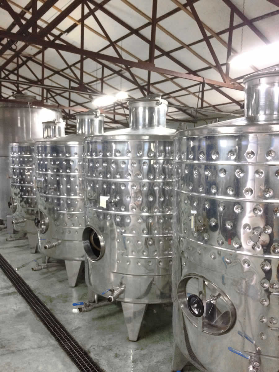 Stainless steel containers for storing the wines, Basiles Ketas Winery, Zitsa wines