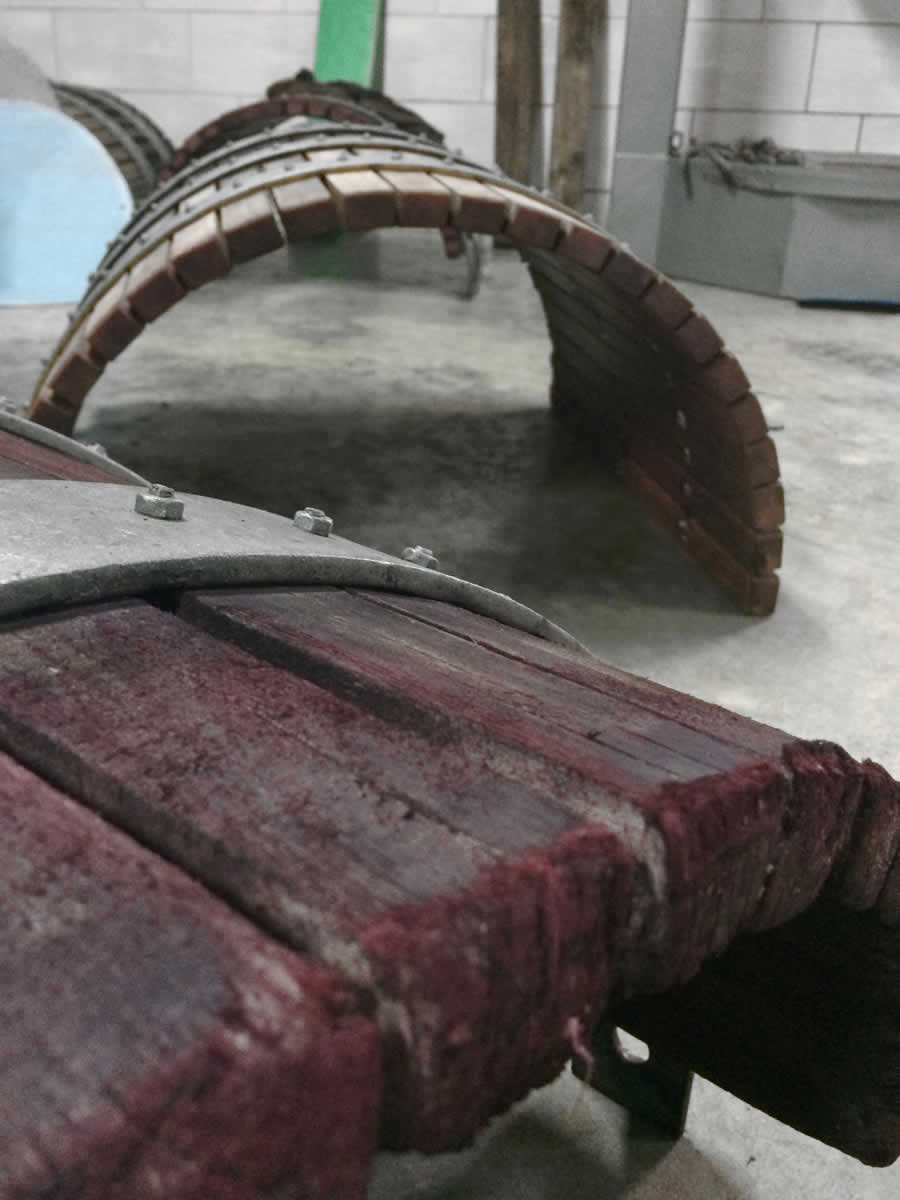 Dismantled wine press drying up, Basiles Ketas Winery, Zitsa wines