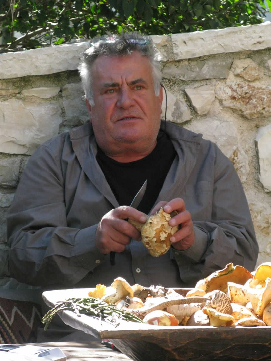 A beautiful day at Anemi Cottage Inn dedicated to wild mushrooms with mushroom expert, among other… tasty things, Basilis Paparounas