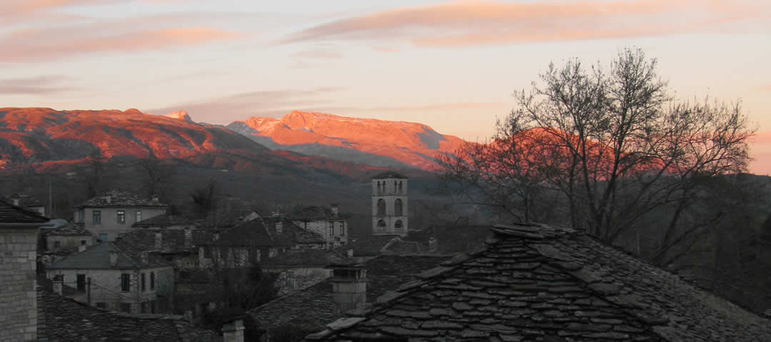 Winter pastel colours in Zagori