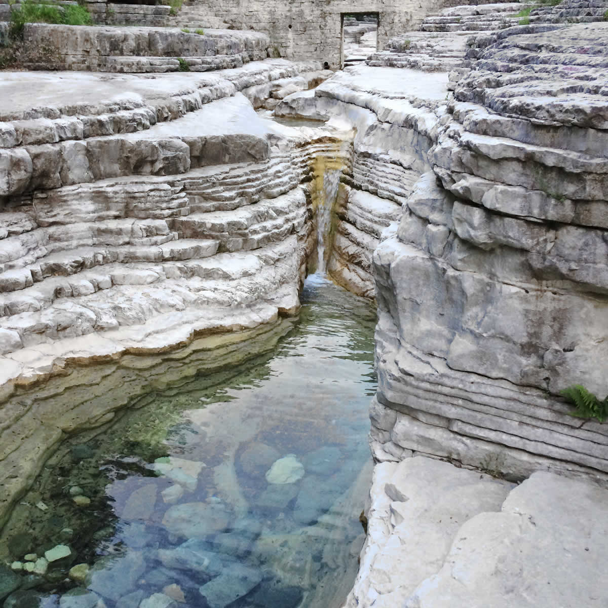 Ovires or Kolybethres natural pools, in Papigo, Zagori, are natural fonts created by the erosion of the lime rock bed due to the flowing water of Rogovo stream on it's downward trip from Mt. Tymphe