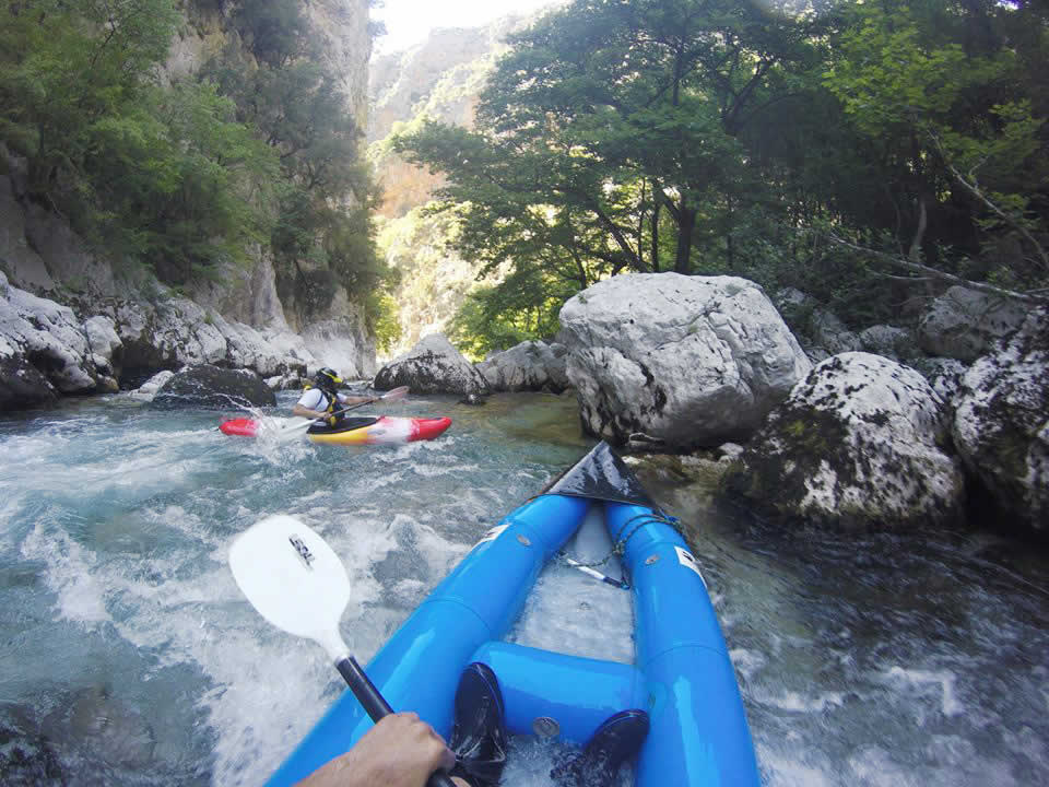 Hot dogs, Voidomatis river, Epirus