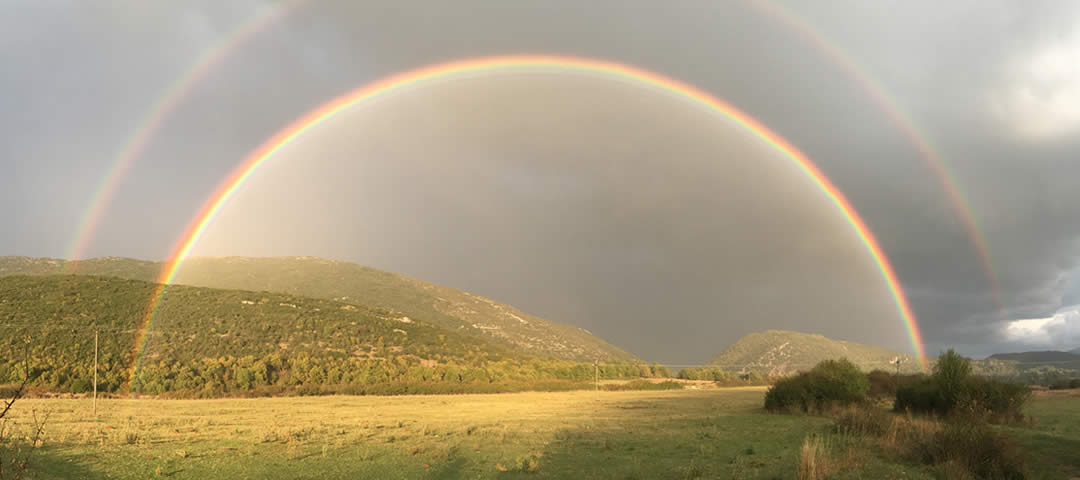 Double rainbow over Zagori!